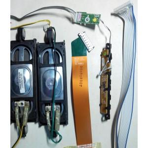BN96-09463C / BN96-10076A / BN96-072A - BN96-10362A - Динамики, кнопки, провода от LE40B530 с матрицей LTF400HA08